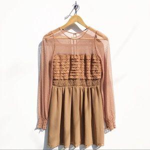 Free People Vintage Long Sleeve Mini Dress